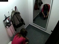 Here's spying the changing rooms! We have two security cameras hidden in cabins of an underclothes shop. Beautiful Czech beauties fitting on bras, pants and sexy underware out of even the slightest idea they are being watched. Now u can lastly watch what beauties do in the changing room!
